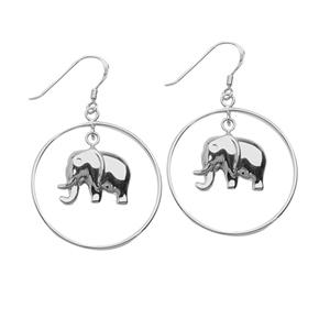 Dangle Earring, Ss Fashion Rhodium Ear
