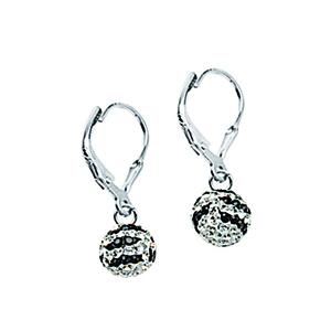 Leverback Earring, Ss Crystal Bon Zebra Lever Ear