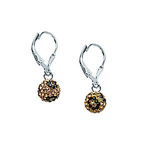 Leverback Earring, Ss Crystal Bon Leopard Lever Ear