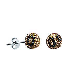 Leverback Earring, Ss Crystal Bon Leopard Post Ear