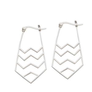 Dangle Earring, Ss Navajo Zig Zag Earring