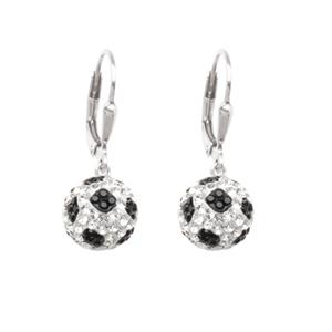 Leverback Earring, Ss 8Mm Soccer Ball Leverback Earrings
