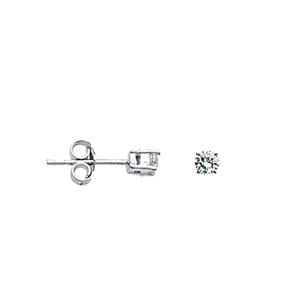 Stud Earring, 3Mm Cz Stud Ear