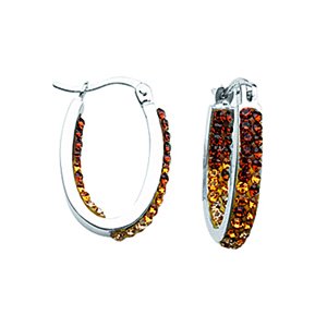 Hoop Earrings, Ss Sm In/Outside Grad Topz To Wht Hoops
