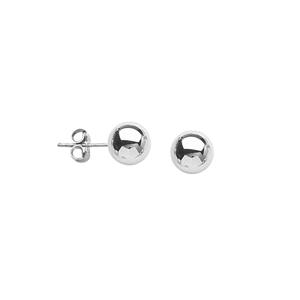 Ball Earring, Ss 6Mm Ball Post Earring