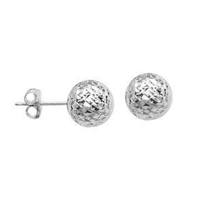 Ball Earring, Ss Classic Stud Rhodium Ear