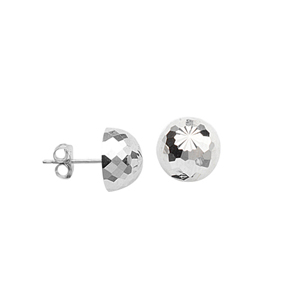 Stud Earring, Ss Classic Stud Rhodium Ear