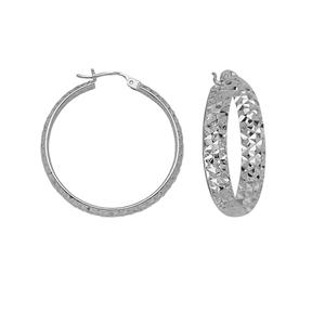 Hoop Earrings, 4 X 25 Dc Inside/Out Hoop Ear