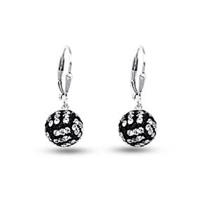 Leverback Earring, Ss 8Mm Volleyball Leverback Earrings