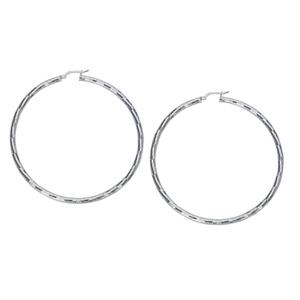Hoop Earrings, Ss 3Mmx60Mm Hoop Ear/Dc