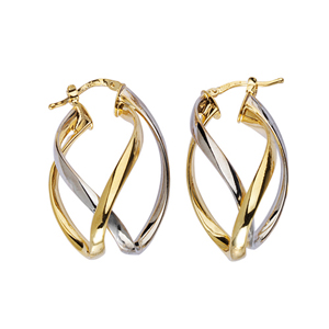 Hoop Earrings, Ss Fancy Hoop Earrings