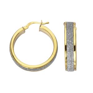 Hoop Earrings, Ss 6Mmx20Mm Hoop/Laser & Shiny