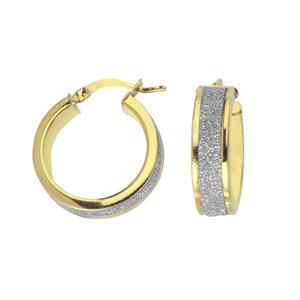 Hoop Earrings, Ss 6Mmx15Mm Hoop/Laser & Shiny