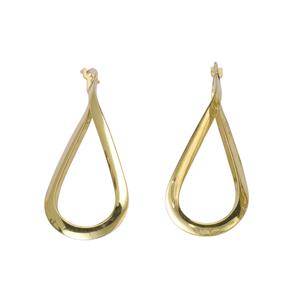 Hoop Earrings, Ss Flat Tube Figure