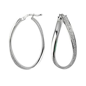 Hoop Earrings, Wavy Glitter Lightz Hoop Earrings