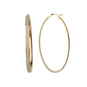 Hoop Earrings, Lrg Oval Glitter Lightz Hoop Ear