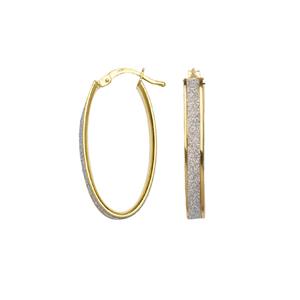 Hoop Earrings, Sml Oval Glitter Lightz Hoop Ear