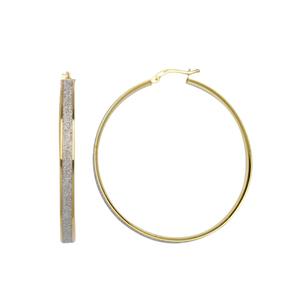 Hoop Earrings, 4X40 Glitter Lightz Hoop Earrings