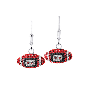 Football Earring, Spirit Football Ear/Ohio State Univ