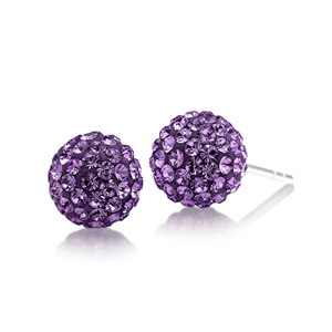 Football Earring, Spirit 8Mm Ball Stud Ea/Lsu