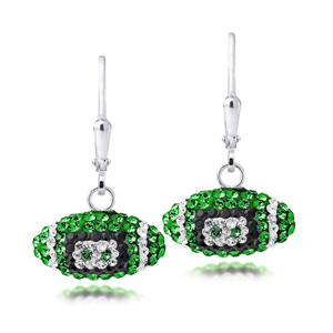 Football Earring, Spirit Football Ear/Univ Of Oregon