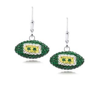 Football Earring, Nfl Green Bay Packers Football Earrings