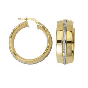 Hoop Earrings, Lightz Coll Wide Rnd Hoop Ear
