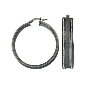 Hoop Earrings, Lightz Coll Wide 30Mm Rnd Hoop Ear