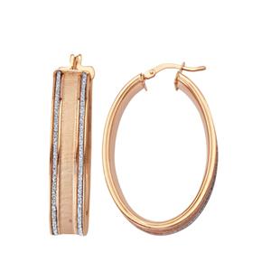 Hoop Earrings, Lightz Coll Wide Oval Hoop Ear