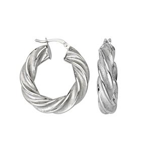 Hoop Earrings, Fancy 15Mm Twisted Hoop Earrings