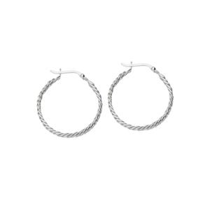 Hoop Earrings, Dc Curb Link Design 30Mm Hoop Earrings