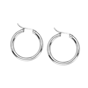 Hoop Earrings, 3X27 Hidden Catch Rnd Hoop Ear