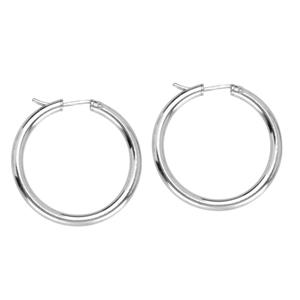 Hoop Earrings, 3X32 Hidden Catch Rnd Hoop Ear