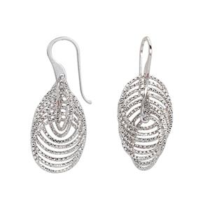 Hoop Earrings, Ss 23.8Mfancy Twist Danglew/8 D/C Circle
