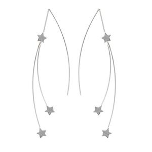 Threader Earring, Fancy Double Star Threader Earrings