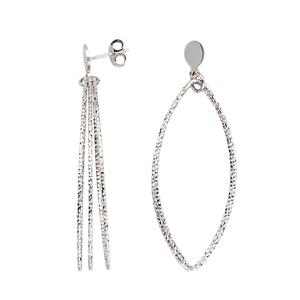 Hoop Earrings, Marquise D/C Dangle Earrings
