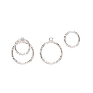 Silver Earring, Fancy Circle Earrinsg W/Circle Jacket