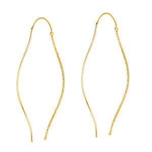 Threader Earring, Fancy Wave Threader Earrings