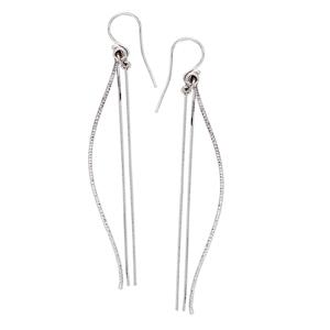 Threader Earring, Dangle D/C Tube And Snake Chain Earrings