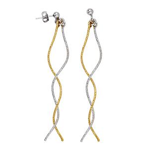 Threader Earring, Tt Fancy Double Wave Earrings
