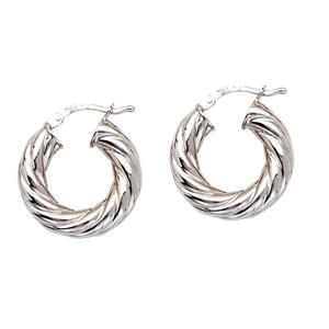Hoop Earrings, 10Mm Thick Twisted Tube Hoop Ear