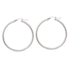 Hoop Earrings, 35Mm Twisted Hoop Earrings