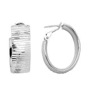 Hoop Earrings, Tree Bark Design Hoop Earrings