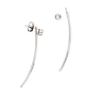 Silver Earrings, Fancy Cz Earrings
