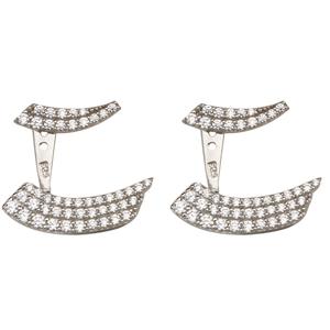 Silver Earrings, Fancy Cz Earrings Jackets