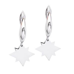 Silver Earring, Dangle North Star Earrings