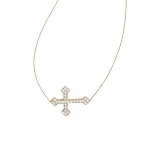 Cubic Zircon Cro Necklace-  , 18 Inches Long
