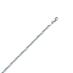 Silver Chain, 2.25MM Silver Singapore 040 (Lobster)