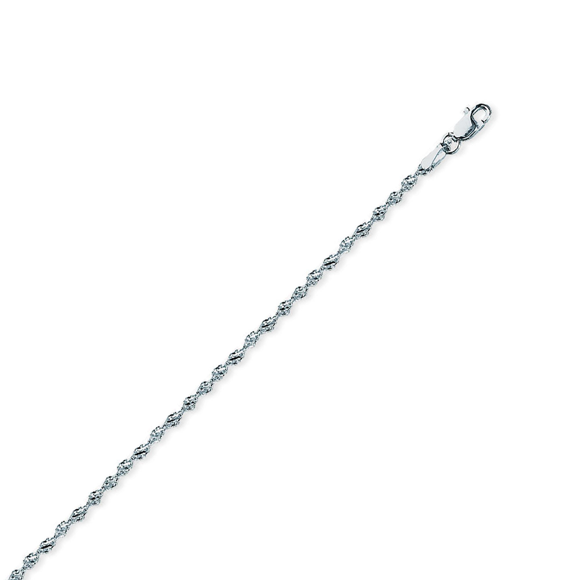 Silver Anklet, 2.1MM Silver Dorica 030 (Lobster)