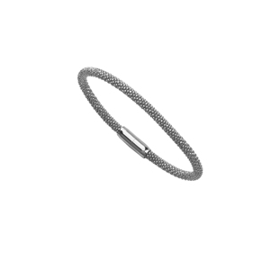 Bangle Bracelet, Sterling Silver  Bead Wg Bangle